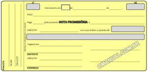 Nota Promissória (Excel)