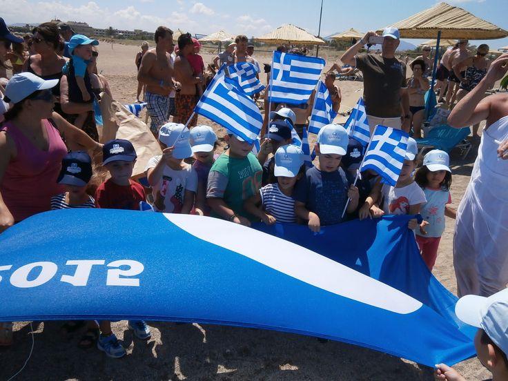 Children taking over the Blue Flag 2015