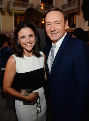 Julia Louis-Dreyfus, Kevin Spacey - Emmy Nominees  Emmys Award Season Performer Peer Group Celebrates 2014 Emmy Nominees at Montage Beverly Hills Reception #Emmys #TelevisionAcad  http://www.redcarpetreporttv.com/2014/07/29/emmys-award-season-performer-peer-group-celebrates-2014-emmy-nominees-at-montage-beverly-hills-reception-emmys-televisionacad/