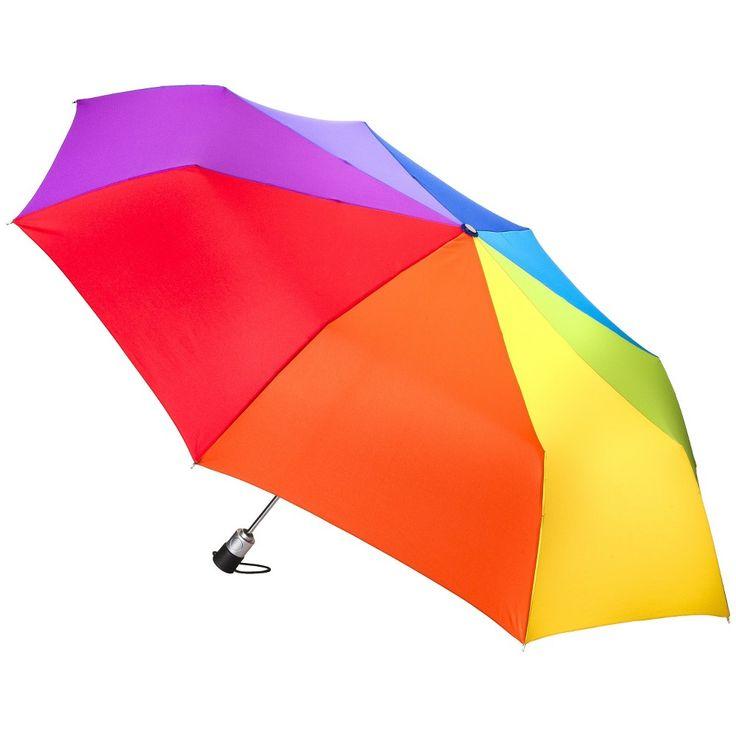 totes Family Jumbo Automatic Umbrella - Rainbow