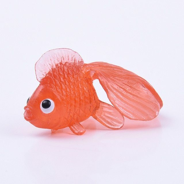 10pcs Kids Soft Rubber Gold Fish Baby Bath Toys Children Swimming Water Toy Hot