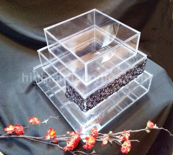 box wedding cake stand clear acrylic cake stand box removable lids by 12115