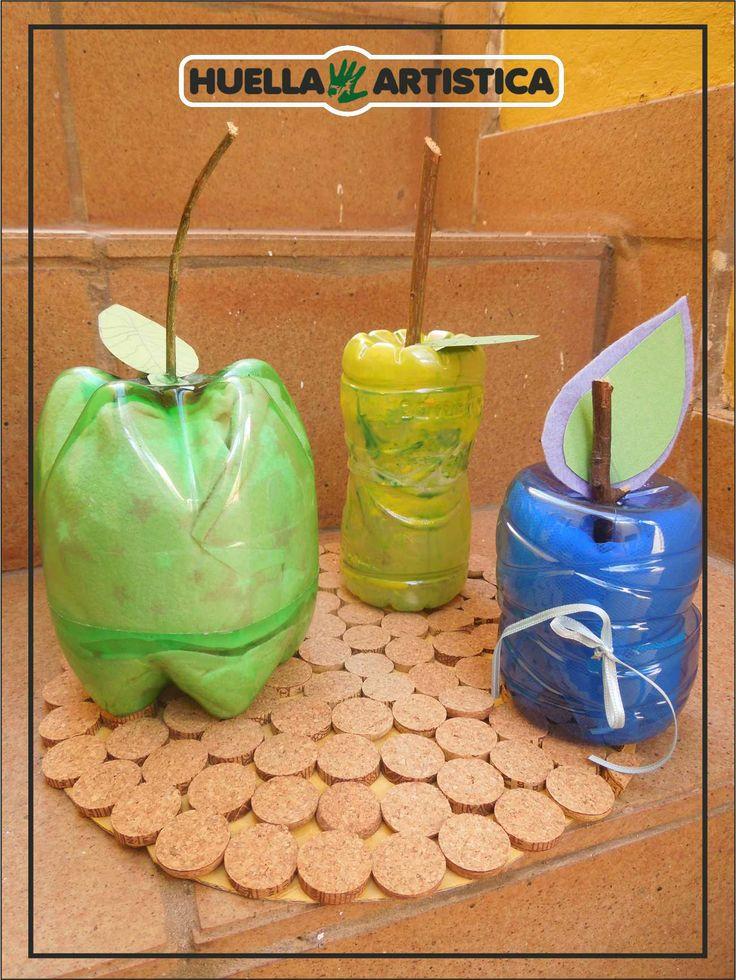 Cursos de Reciclarte : botella y tela..para la mesa. Adultos y niños.