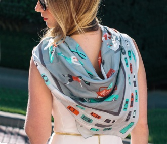 City Silk Scarves- Love the LA One!   On Covet today.