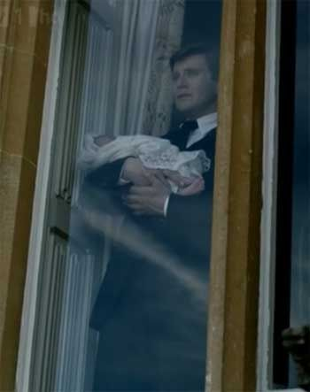 Single father Branson on Downton Abbey Season 3 Episode 5 SUCH A SAD SCENE!
