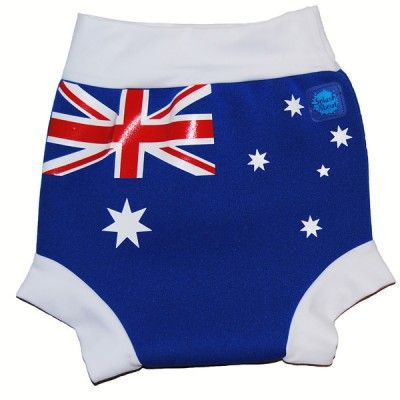 For Baby: HNAU HAPPY NAPPY AUSTRALIAN FLAG  #happynappy #swimnappy #aussieaussieaussie #australianflag