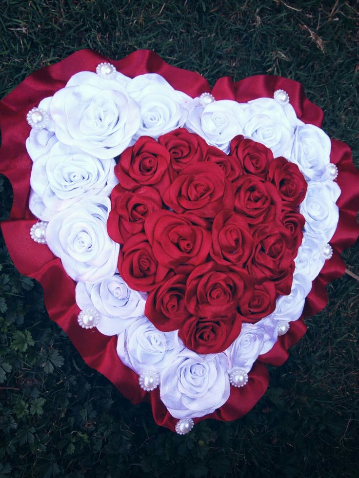 #heart #ribbon #rose