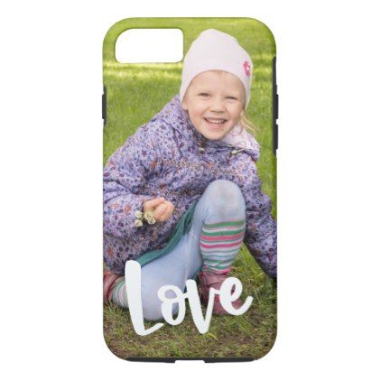 Upload your Photo Typography Love iPhone 8/7 Case - create your own gifts personalize cyo custom