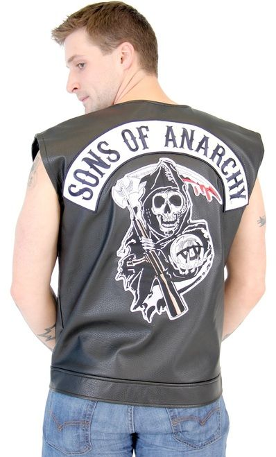 If you're looking for a little item to spice up your life then how about adding this Sons of Anarchy Reaper vest to your closet? If you love wearing Sons of Anarchy t-shirts and wish that you had a Sons of Anarchy vest to wear while you are screaming down the highway on your Harley, then now your dream can come true. This officially-licensed SOA Black Leather Highway Biker vest is the perfect Halloween costume for fans of the show, and also the perfect role playing outfit for when you and…