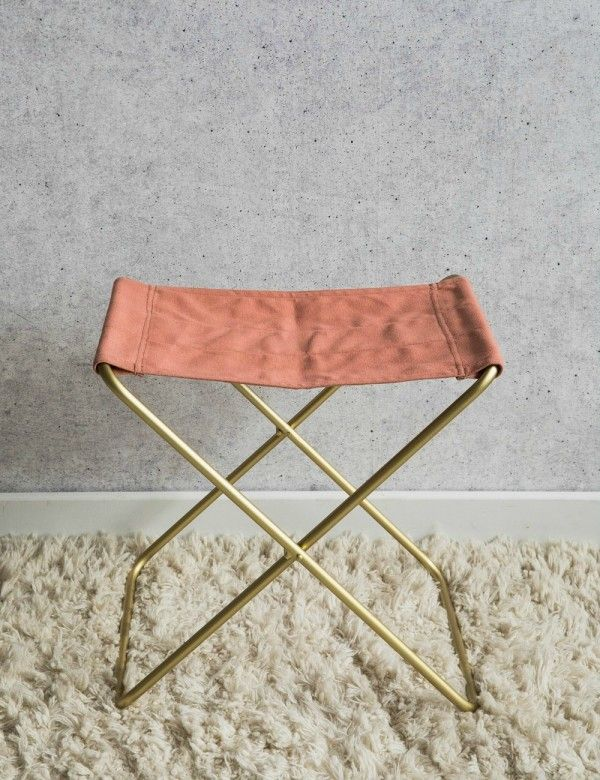 Pink Amp Gold Canvas Stool Whishes Pinterest Stools