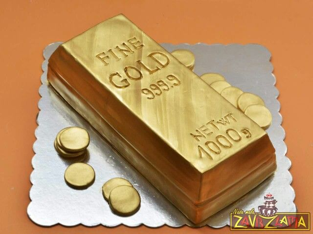 Gold Bar Cake Funny Cakes Xd Pinterest Cakes Bar