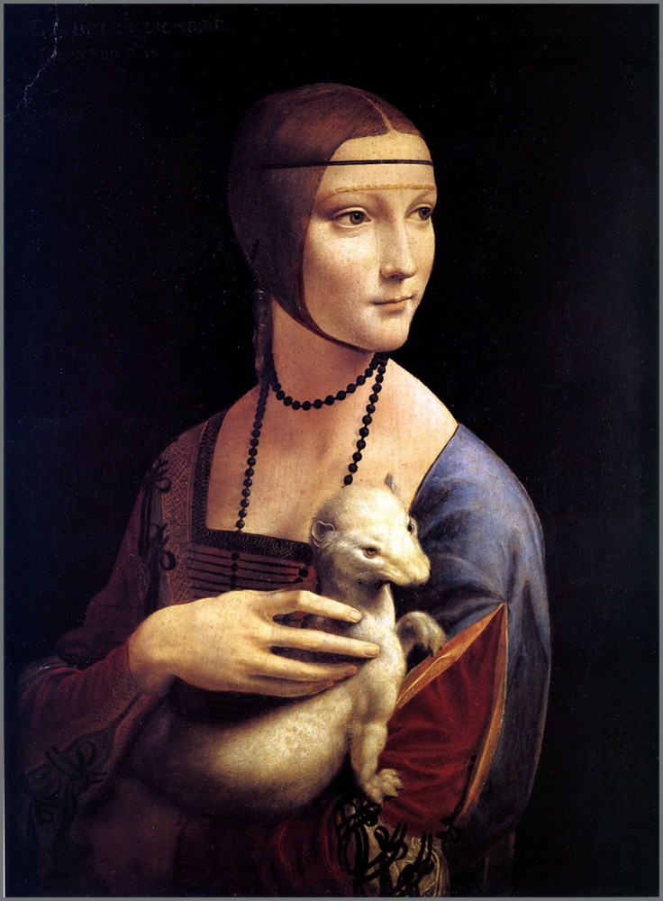 da Vinci's 'The Lady with an Ermine' - favorite painting of all time!