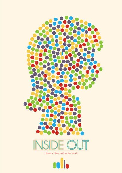 Inside Out minimal poster Art Print                                                                                                                                                                                 More