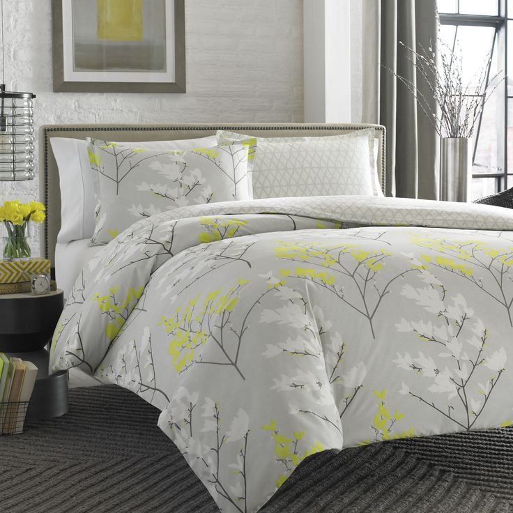 8 Best Yellow And Grey Bedroom Images On Pinterest