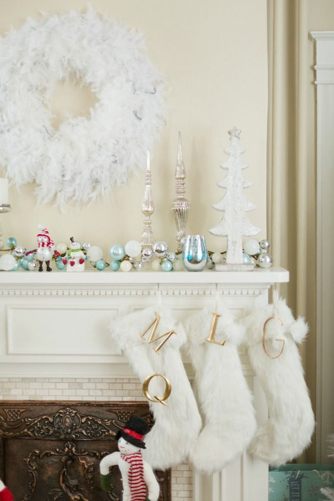White feather boas made into a beautiful holiday wreath