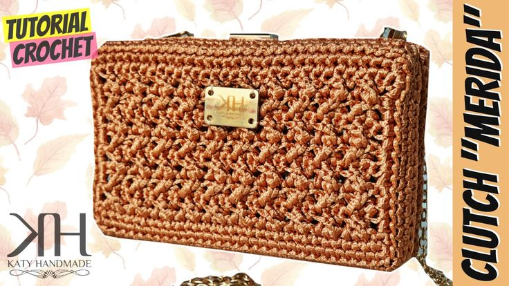 "Tutorial uncinetto clutch ""Merida"" 
