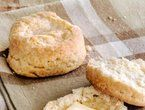 Old-Fashioned Biscuits. Try shredding the butter and dont fully incorpaorate everything, instead roll it out a little and keep folding and rolling to incorporate everything.
