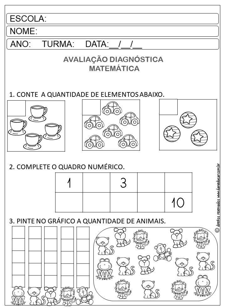 Avaliacao Diagnostica Pre Escolar Em 2020 Com Imagens