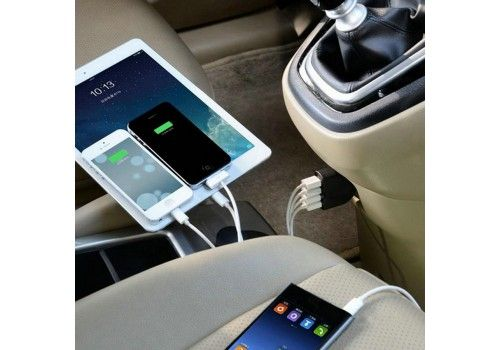 Can charge up to 4 devices at the same time! Perfect for your phone or your tablet!