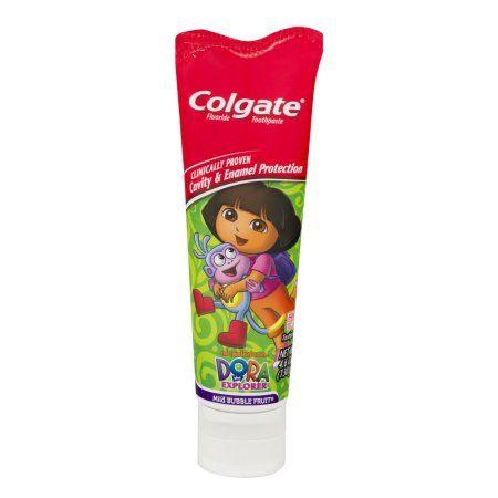 Colgate Dora The Explorer Fluoride Toothpaste Mild Bubble Fruit, 4.6 OZ, Multicolor