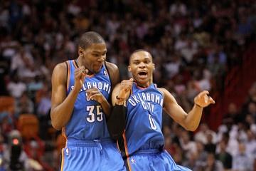 kevin durant kd russell westbrook okc thunder: Thunderup Okc, Okc Thunder, Amazing Thunder, Basketball Junkie, Kevin Durant, Kd Russell, Kd Rw, Westbrook Okc