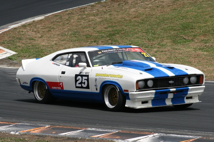 Vern Muller 1977 Ford Falcon XC Cobra racing at Hampton Downs 2013