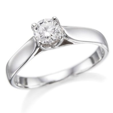 ND Outlet - Engagement   1/2 ctw. Round Diamond Solitaire Engagement Ring in 14k White Gold   Be the first to review this item   Like   (0)  Suggested Price:$2,885.00  Price:$1,518.00   Sale:$799.00   You Save:$2,086.00 (72%)