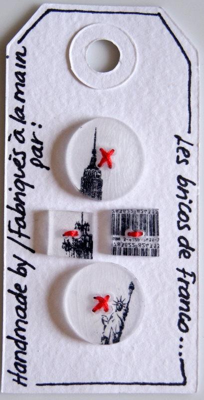 Shrink plastic New York buttons