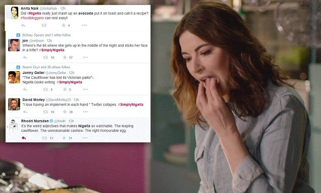 Simply Nigella viewers aghast after she makes  avocado on toast #DailyMail