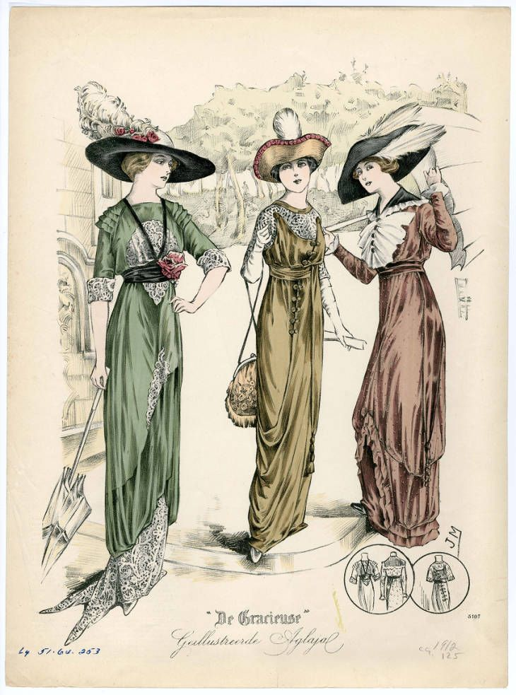 1910 1913 Plate 093 Fashion Illustration Vintage Fashion Plates Edwardian Fashion
