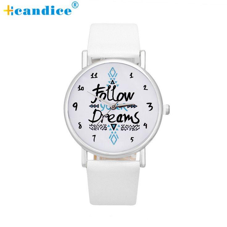 $1.51 (Buy here: https://alitems.com/g/1e8d114494ebda23ff8b16525dc3e8/?i=5&ulp=https%3A%2F%2Fwww.aliexpress.com%2Fitem%2Fwomen-watch-Women-Follow-Newest-Hot-Girls-Bracelet-Watch-Women-Follow-Dream-Words-Pattern-Leather-Watch%2F32738374917.html ) women watch Women Follow Newest Hot Girls Bracelet Watch Women Follow Dream Words Pattern Leather Watch Relogio Feminino Sep23 for just $1.51