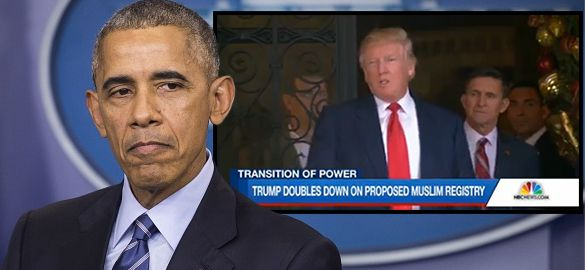 Obama quickly eliminates TERRORIST TRACKING REGISTRY BEFORE Trump takes over. This is a WAR on Americans. This is what Michael Moore and Hollywood Liberals want? Haven't they read the news and ALL the Terrorist Attacks in countries that TOOK IN refugees????? You back a man who  eliminates a  Visitor Registry that was set up to KEEP US SAVE?