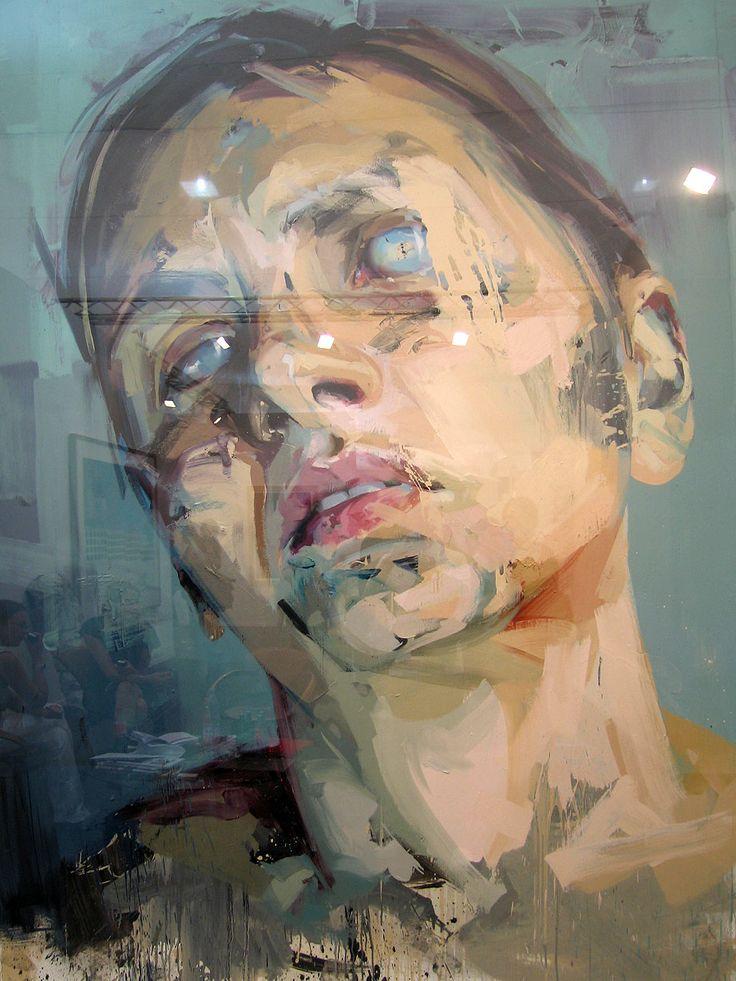 34 best artists i jenny saville images on pinterest for Airbrushing mural