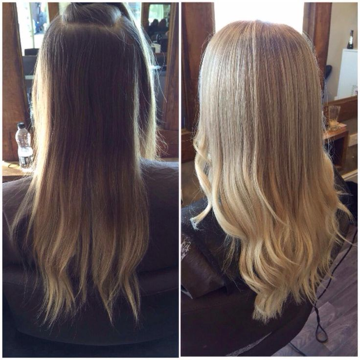 Ombre to ash blonde highlights