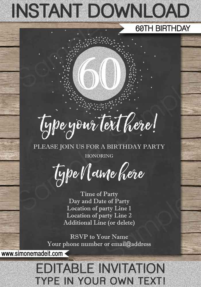16 best Milestone Birthday Party Invitations \ Printables - 30th - invitation download template