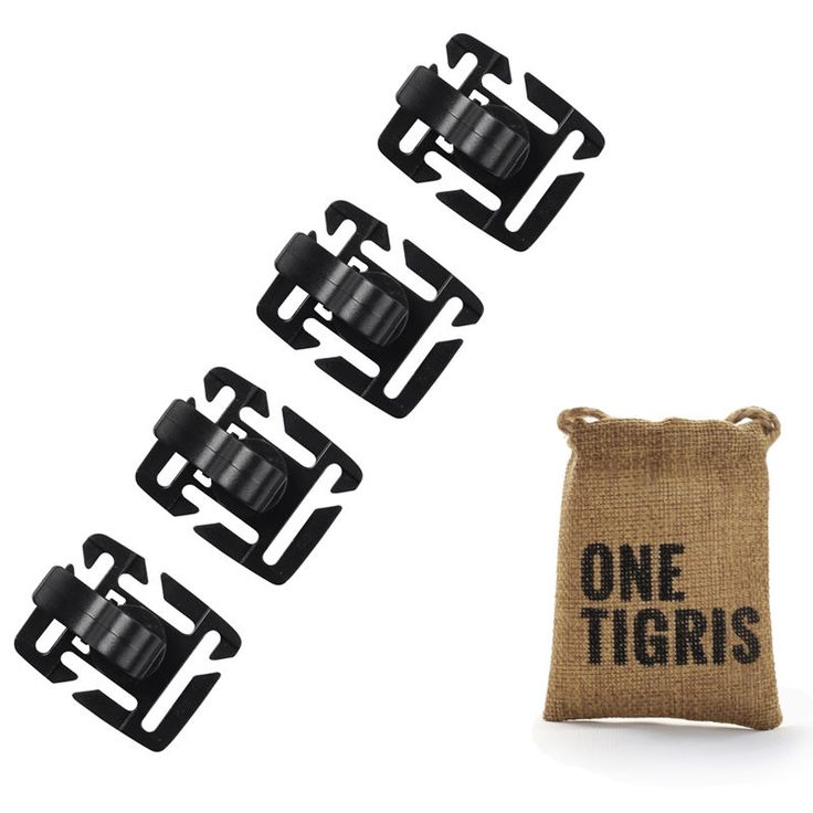 OneTigris Tactical Hydration Tube Clips Bicycle Water Bottle Tube Buckle for MOLLE Webbing Backpack 4pcs/lot #Affiliate