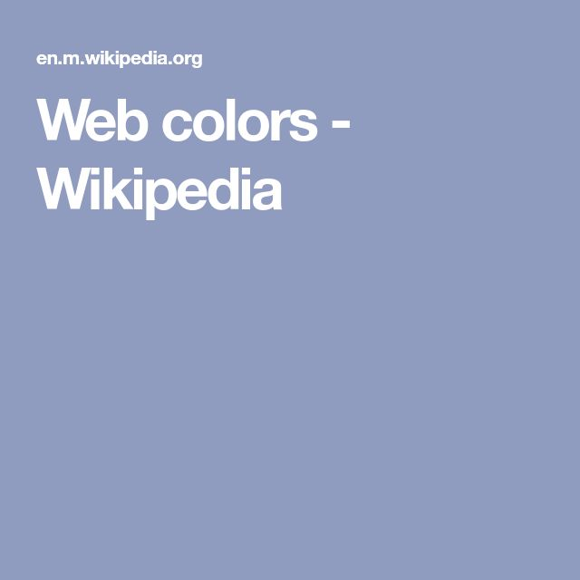 Web colors - Wikipedia