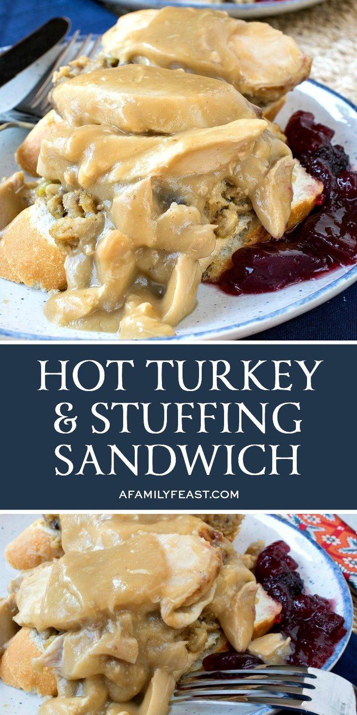 Hot Turkey and Stuffing Sandwich