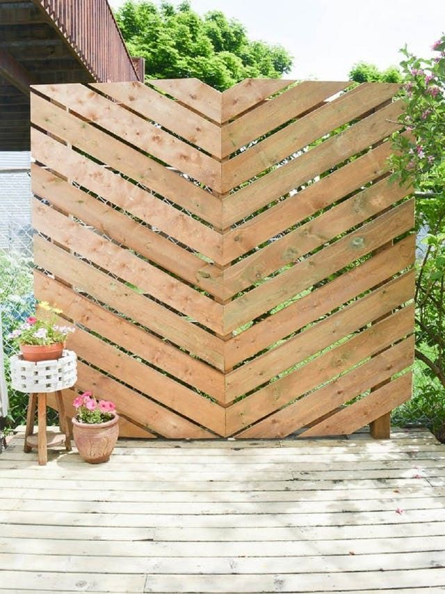 Privacy Fences & Screens You Can Make Yourself | Apartment Therapy (hide the gas tank.... hmmm!)