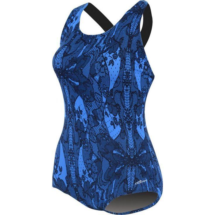 Dolfin Women's Printed Conservative Lap Racerback Swimsuit, Size: 20, Blue