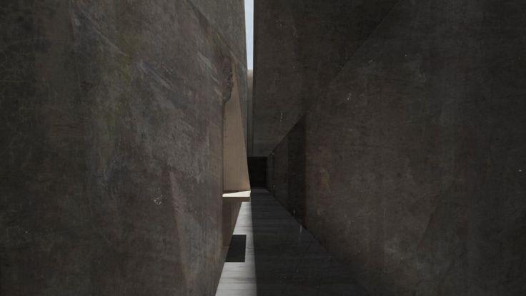 Film Still - Sandstone Passageway - Artlantis & Photoshop
