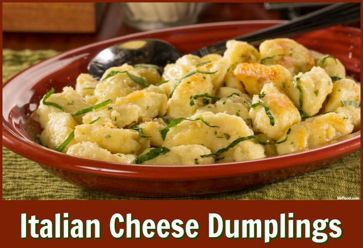 Easy and cheesy, these Italian Cheese Dumplings will be a welcome change to your Italian dinner menu.