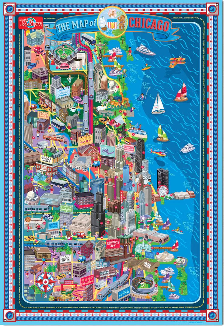Chicago, dotted out right along the water, is a city of beautiful architecture and some pretty memorable views. It's no wonder, then, that it inspires artists to put their ink and paint to paper to sketch out lovely, detailed maps of the place. Each artist...