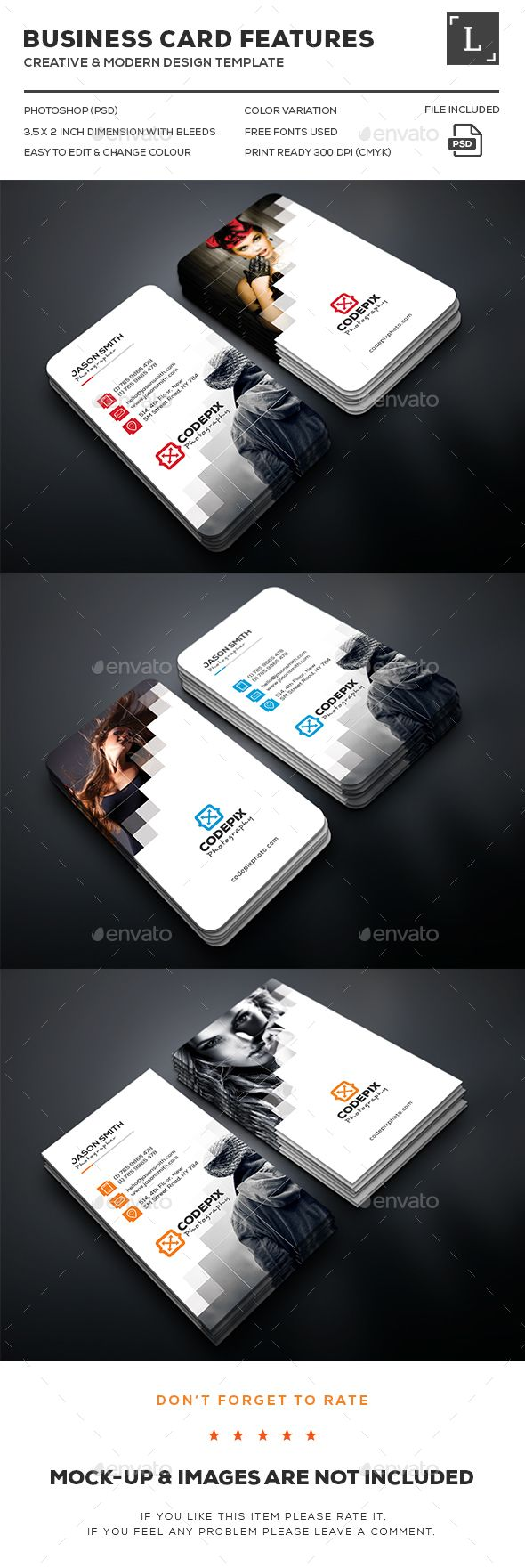 Pixel Photography Business Card Template PSD. Download here: http://graphicriver.net/item/pixel-photography-business-card/16096489?ref=ksioks