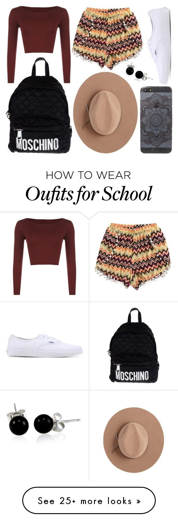 """School Day"" by susanna-trad on Polyvore featuring WearAll, Vans, Moschino, Satya Twena and Bling Jewelry"