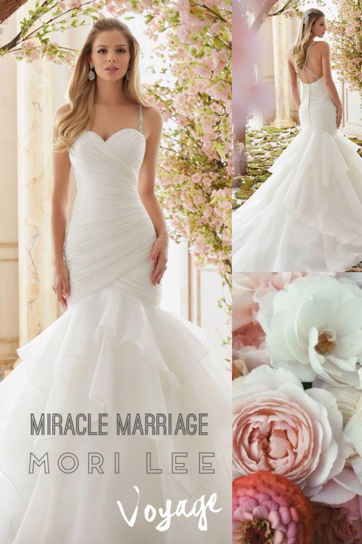 Een van de prachtige jurken uit de collectie Voyage van Mori Lee #morilee #trouwjurk #trouwen #miraclemarriage