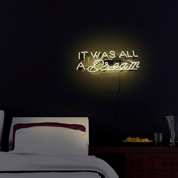 'It was all a dream' Neon by Oliver Gal
