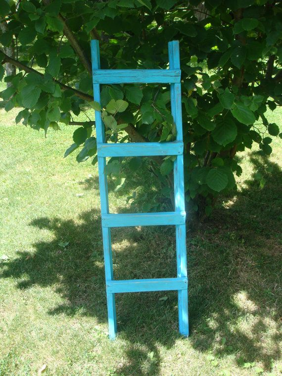 Antique Turquoise Orchard Ladder