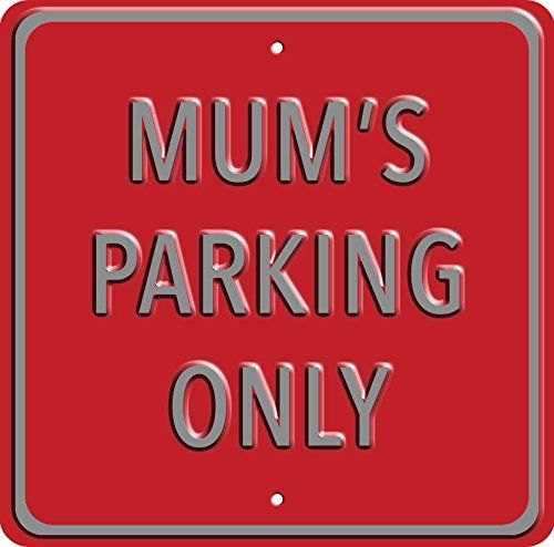 """""""Mum's Parking"""". Heavy Duty Wall Sign. A great gift or present for mum. Birthday, Christmas, Mother's Day. Red Hot Lemon http://www.amazon.co.uk/dp/B00TFXXWQ2/ref=cm_sw_r_pi_dp_dIK2ub0K7W7H6"""