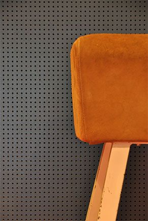 Acoustic perforated panel manufactured using #Valchromat